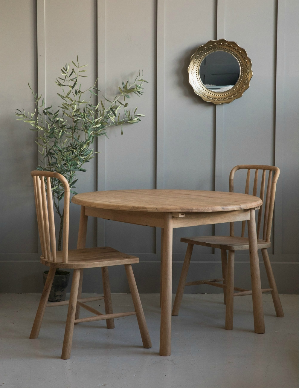 Famous Round Extendable Dining Tables Regarding Nordic Round Extending Dining Table At Rose & Grey (View 8 of 25)