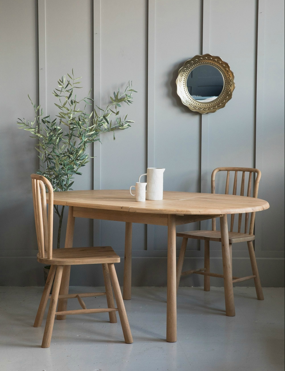 Famous Round Extending Dining Tables Sets Regarding Nordic Round Extending Dining Table At Rose & Grey (View 9 of 25)