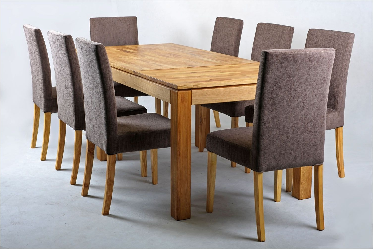 Famous Terrific Solid Oak Extending Dining Table And Chairs Set Home Goods Pertaining To Extendable Oak Dining Tables And Chairs (View 9 of 25)