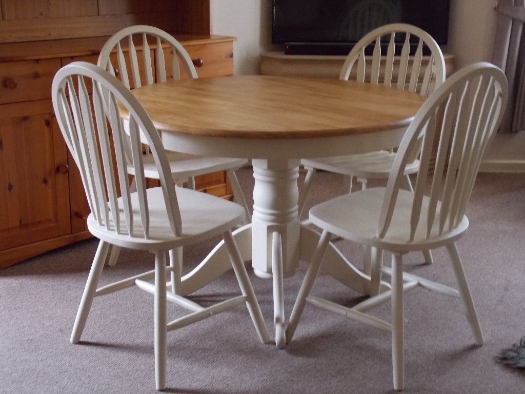 Famous Top 50 Shabby Chic Round Dining Table And Chairs – Home Decor Ideas With Regard To Shabby Chic Cream Dining Tables And Chairs (View 17 of 25)