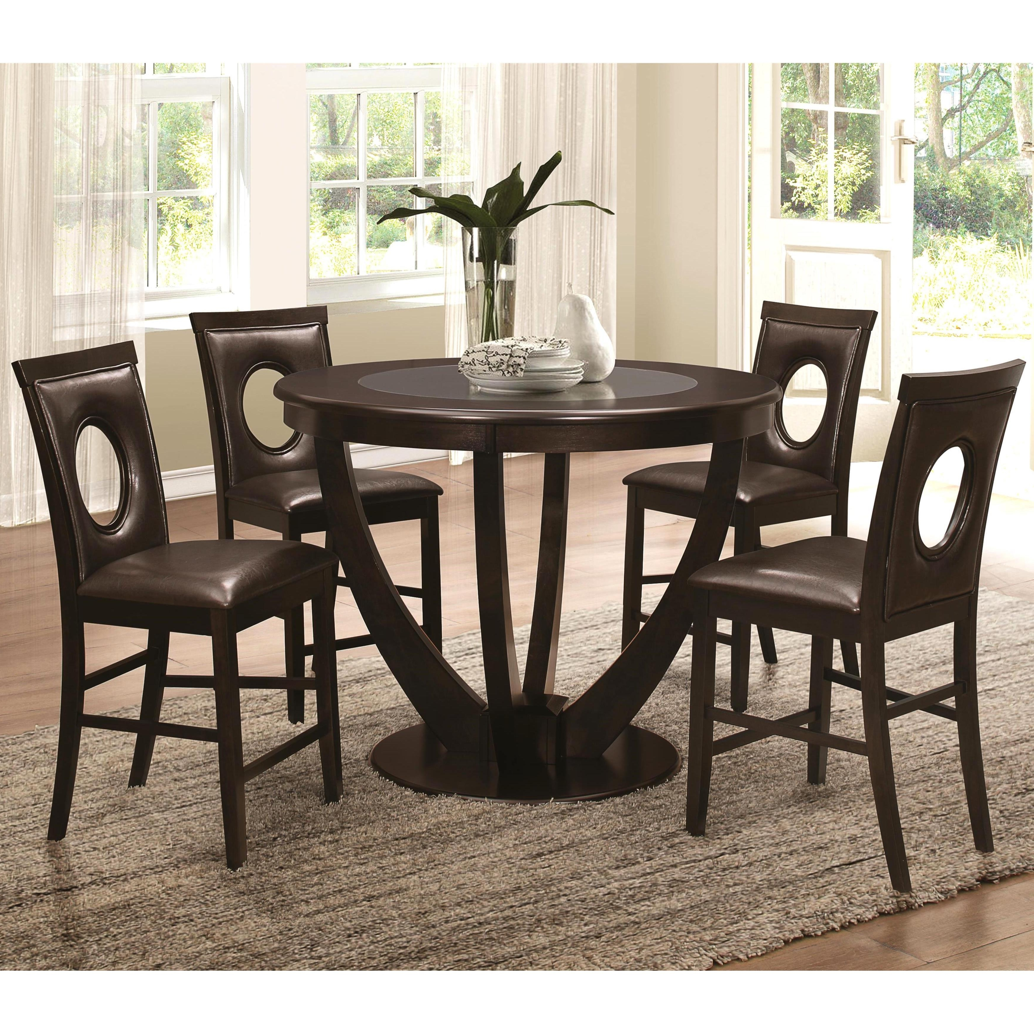 Famous Valencia 5 Piece Counter Sets With Counterstool Regarding Shop Valencia Casual 5 Piece Counter Height Dininig Set With Black (View 12 of 25)
