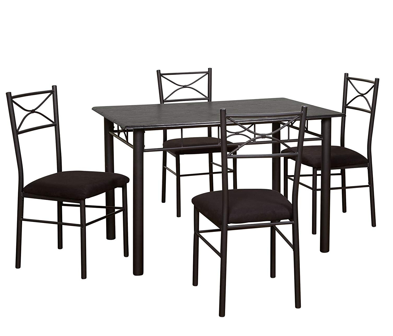 Famous Valencia 5 Piece Round Dining Sets With Uph Seat Side Chairs With Regard To Amazon – Target Marketing Systems 5 Piece Valencia Dining Set (View 3 of 25)