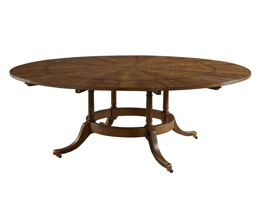 Famous Victor Dining Tables Pertaining To Ej Victor Dining Room 60'' Round Dining Table With Six Perimeter (View 9 of 25)