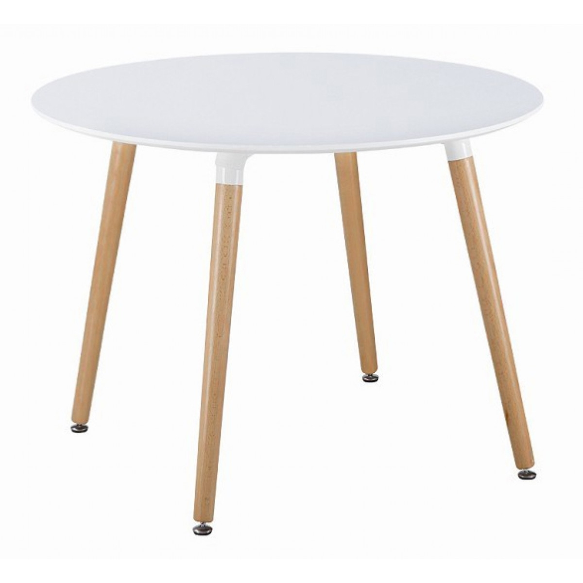 Famous White Circle Dining Tables Throughout Eames Style Dsw White Round Dining Table (View 7 of 25)