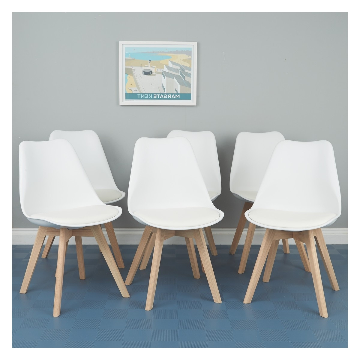 Famous White Dining Chairs With Jerry Set Of 6 White Dining Chairs (View 12 of 25)