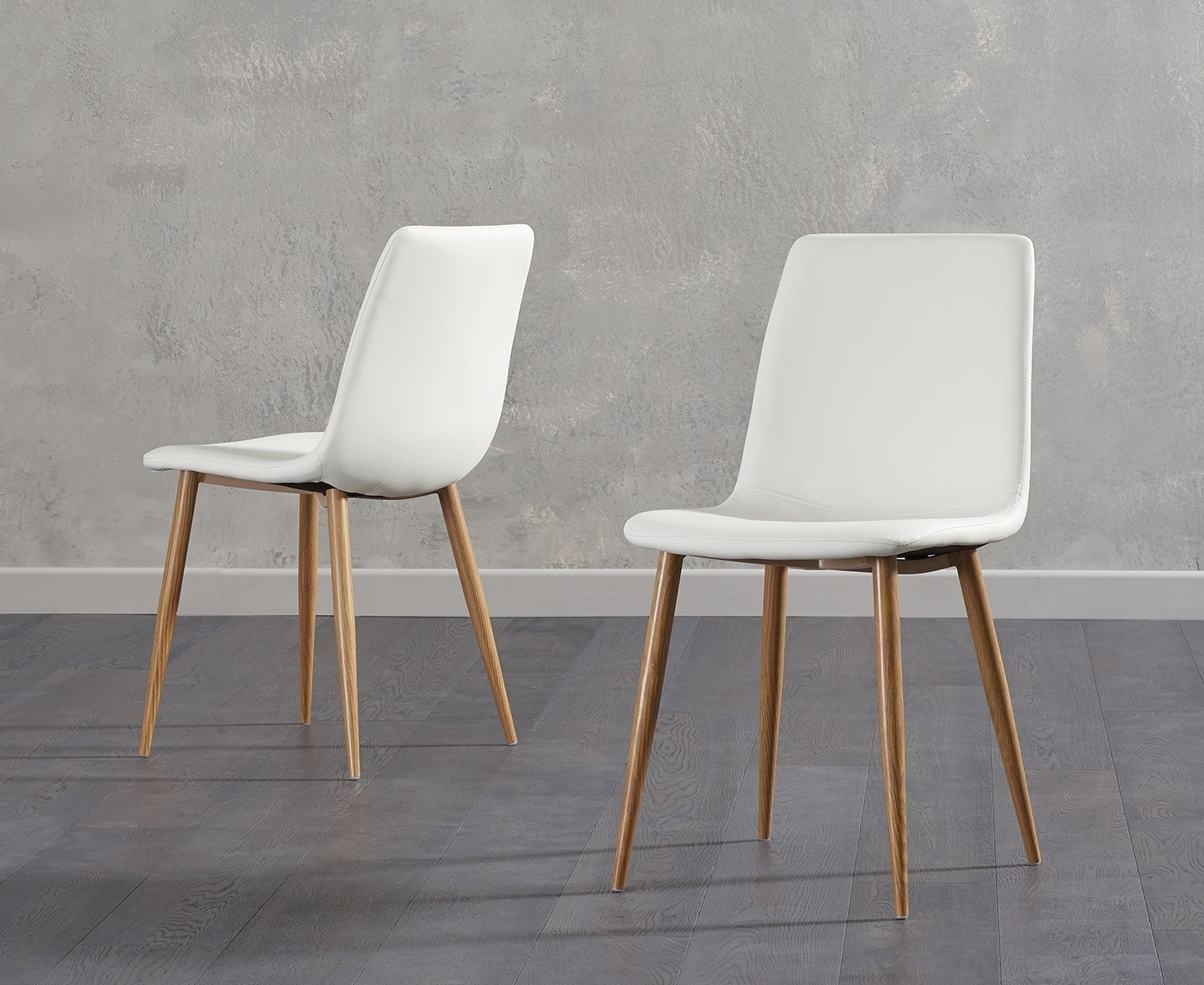 Famous White Leather Dining Chairs For Buy Mark Harris Hatfield White Faux Leather Dining Chair With Wooden (View 7 of 25)