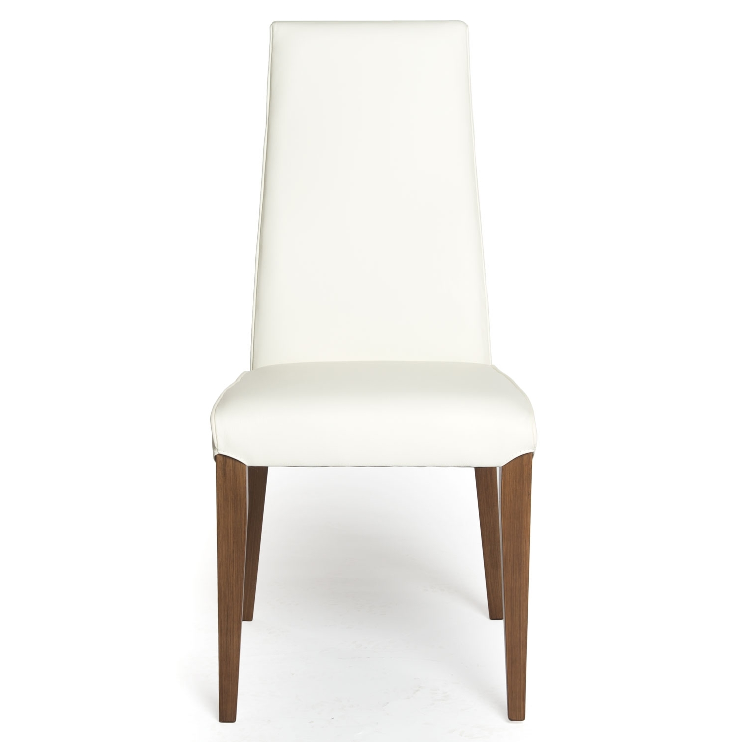Famous White Leather Dining Chairs Intended For Leather Dining Chair With Wood Legs (View 8 of 25)