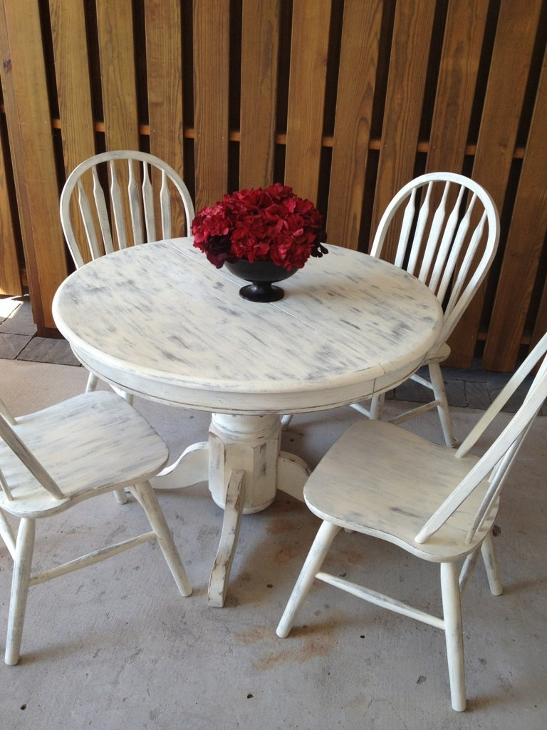 Famous White Shabby Chic Dining Table Large And Beautiful Regarding Shabby Chic Cream Dining Tables And Chairs (View 13 of 25)