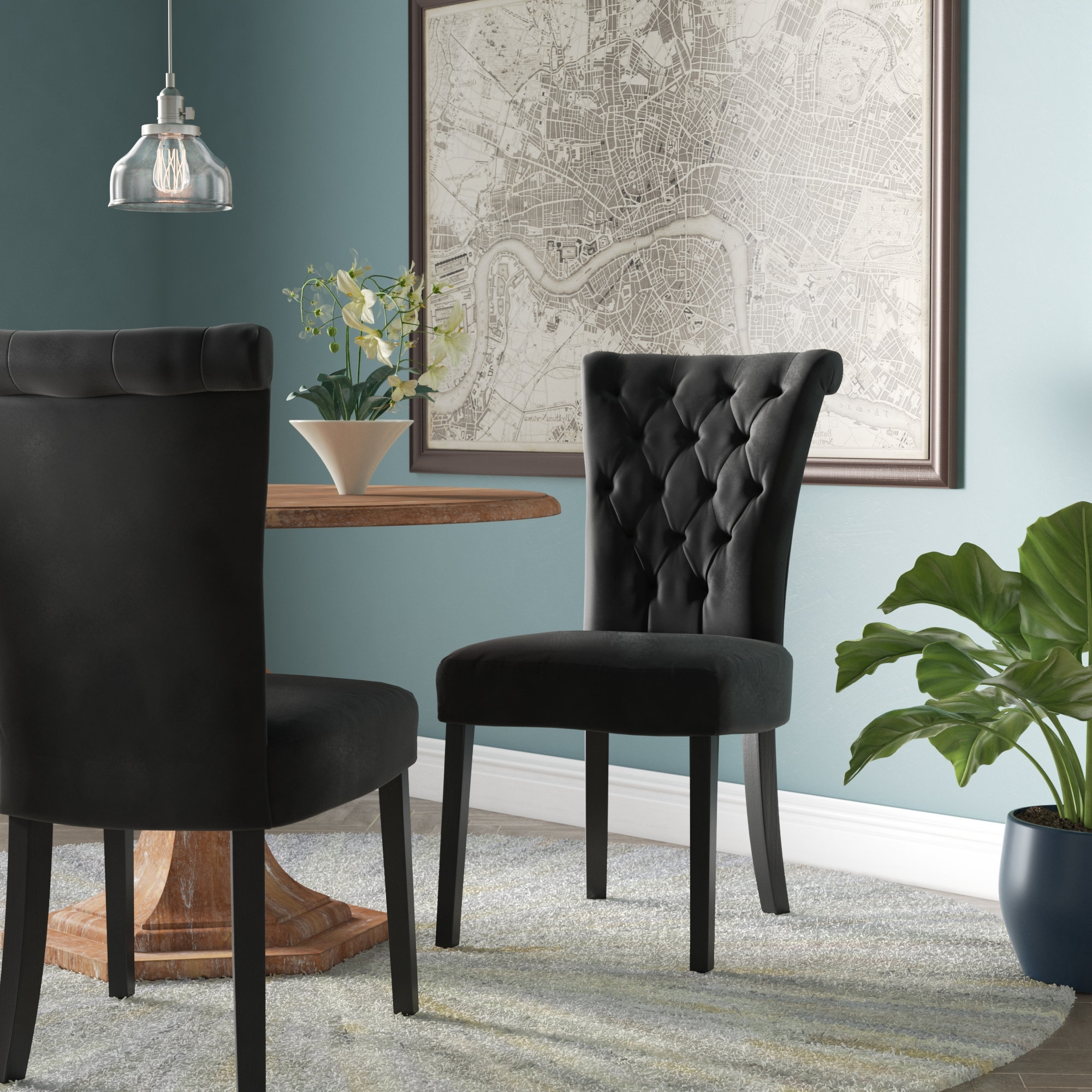 Famous Willa Arlo Interiors Coyle Upholstery Side Chair & Reviews (View 15 of 25)