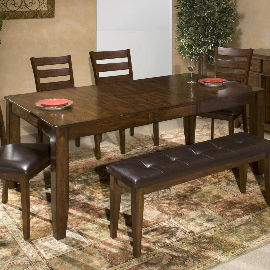 Famous Wood Dining Tables Within Kona Solid Mango Wood Dining Table With Butterfly Leafintercon At Boulevard Home Furnishings (View 21 of 25)