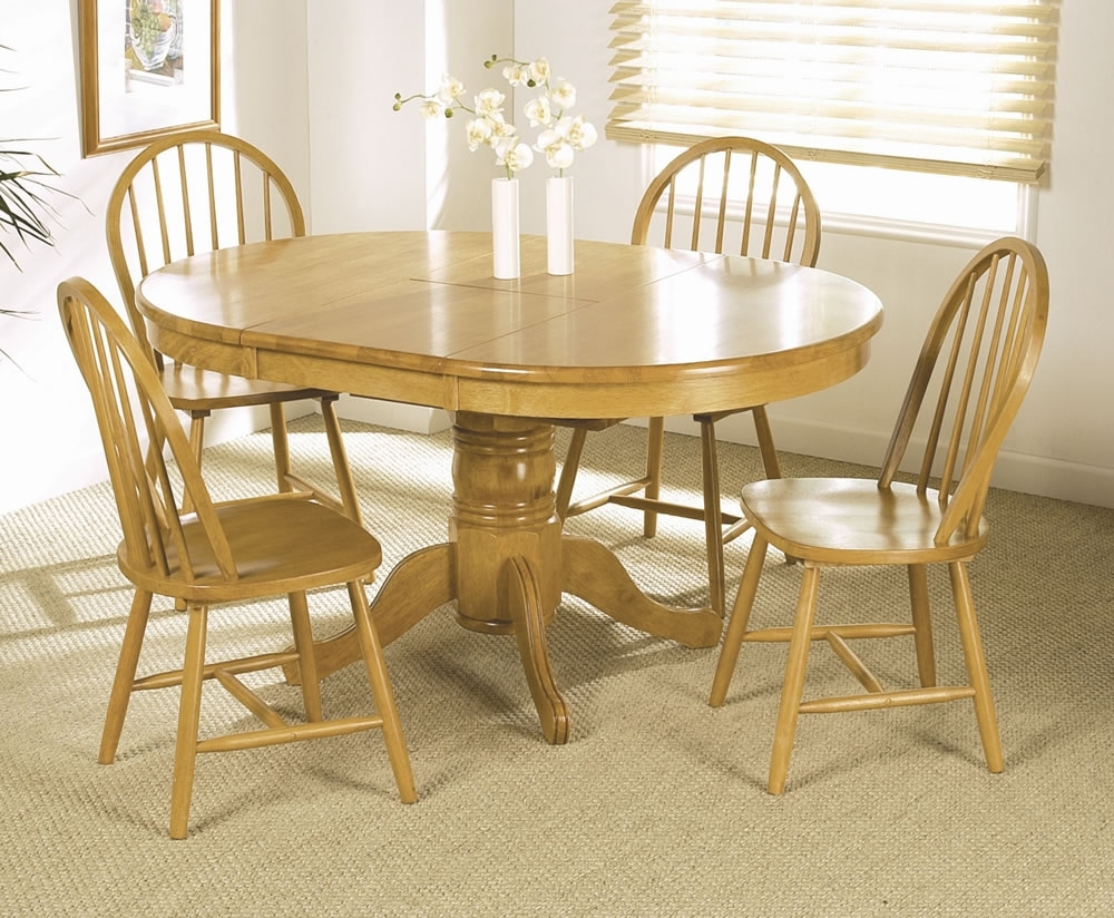 Famous Worcester Round Extending Dining Table And 4 Chairs Ashley Dining Inside Extendable Dining Table And 4 Chairs (View 10 of 25)