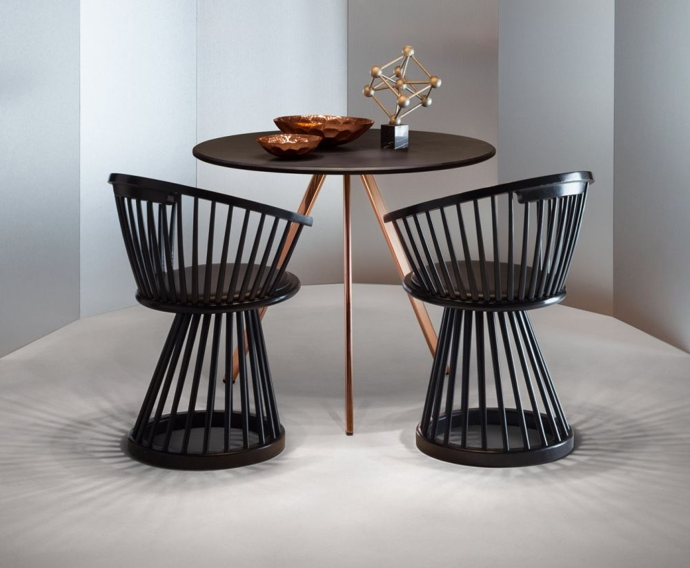 Fan Dining Chair Black (View 7 of 25)