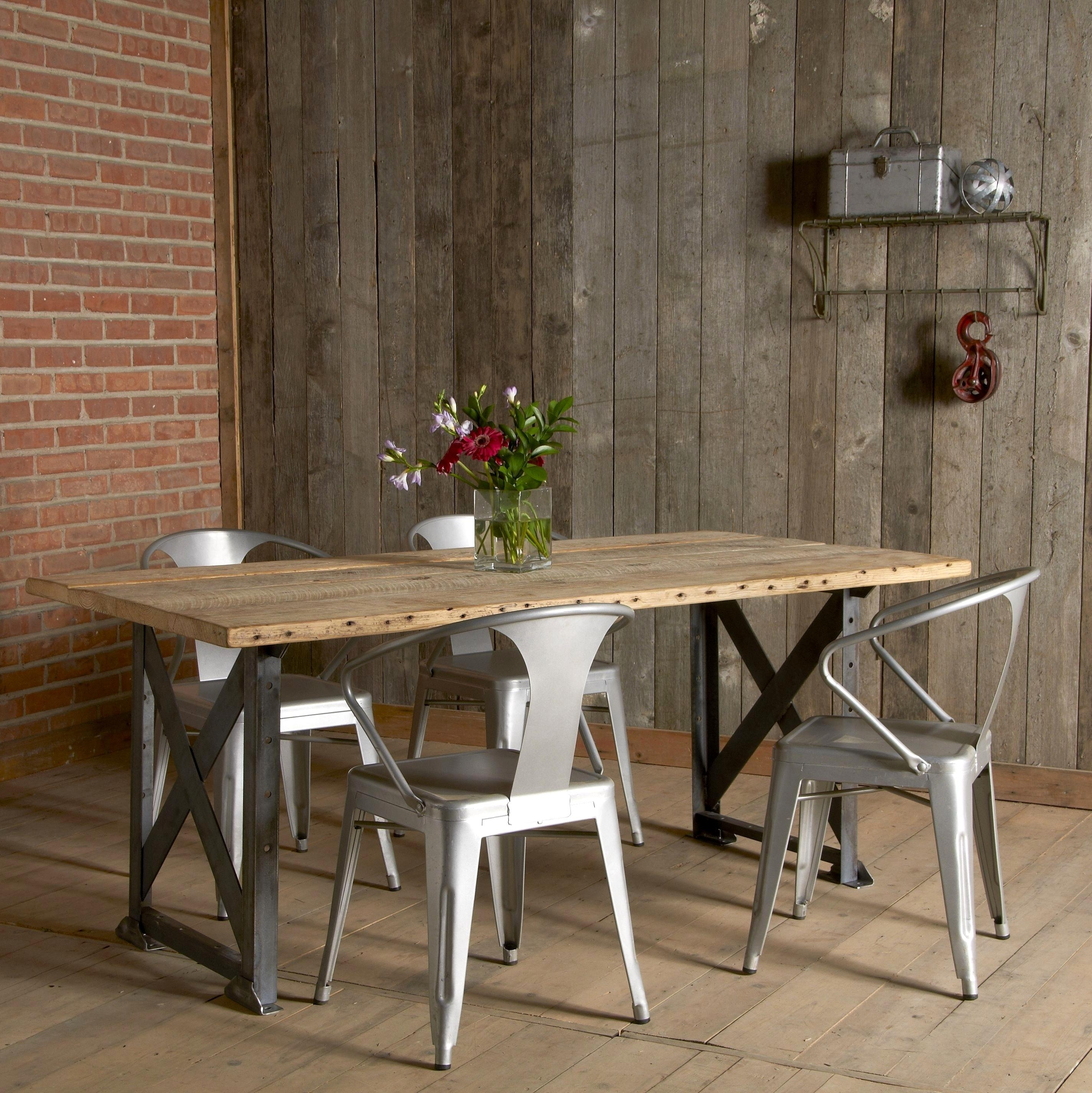 Fantastic Industrial Style Dining Table Wood Industrial Reclaimed For Most Popular Industrial Style Dining Tables (View 21 of 25)
