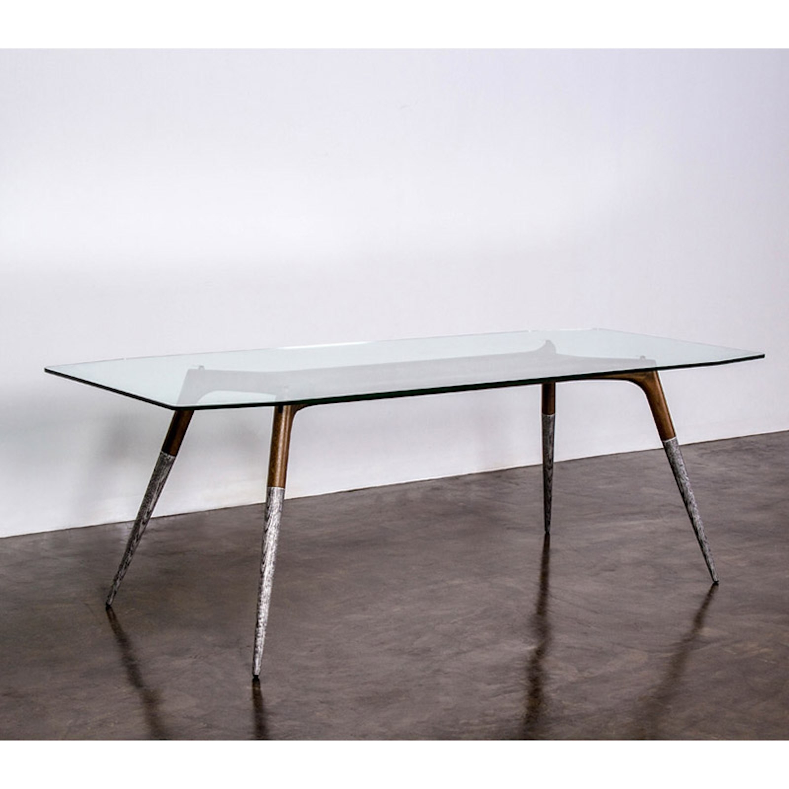 Fashionable 87 Inch Dining Tables With Assembly 87 Inch Dining Table With Glass Top And Smoked Oak And Cast (View 10 of 25)
