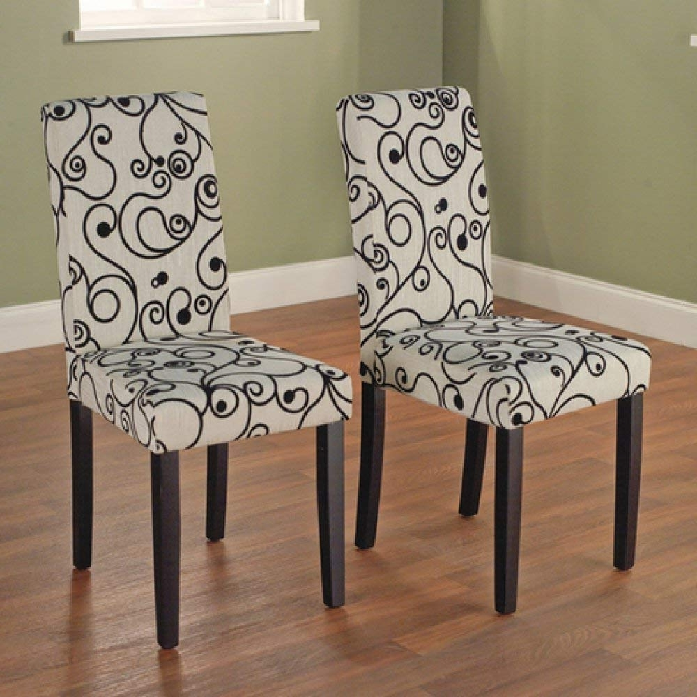Fashionable Amazon – Olivia Parson Chair, Black, Set Of 2 – Chairs Regarding Fabric Covered Dining Chairs (View 12 of 25)