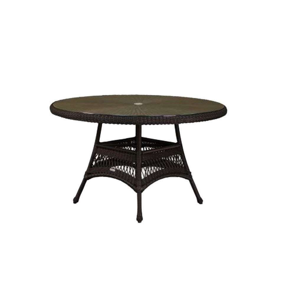 Fashionable Amazon : Tortuga Outdoor Garden Patio Lexington Dining Table (48 Intended For Outdoor Tortuga Dining Tables (View 9 of 25)