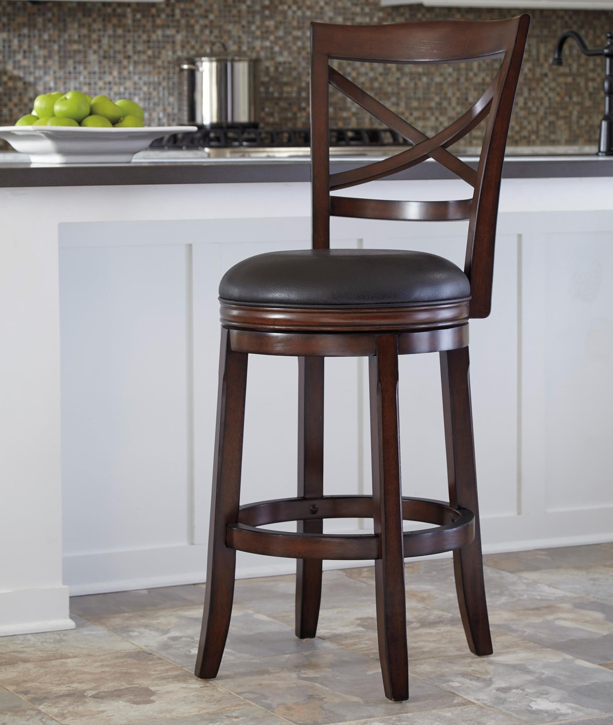 Fashionable Ashley Furniture Porter Bar Height X Back Tall Upholstered Swivel With Regard To Jaxon 5 Piece Extension Counter Sets With Wood Stools (View 8 of 25)