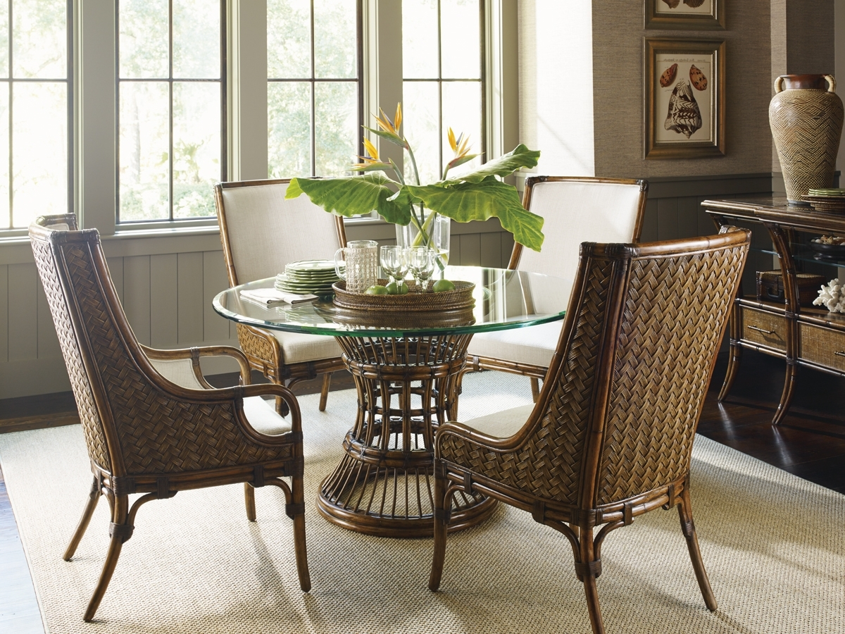 Fashionable Bali Hai Latitude Dining Table With Glass Top (View 14 of 25)