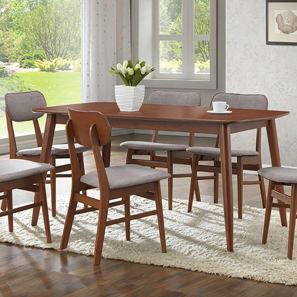 Fashionable Baxton Studio Sacramento Medium Brown Wood Dining Table In Wood Dining Tables (View 7 of 25)