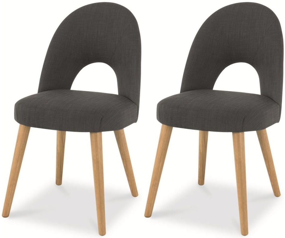 Fashionable Buy Bentley Designs Oslo Oak Steel Fabric Upholstered Dining Chair With Oak Fabric Dining Chairs (View 3 of 25)