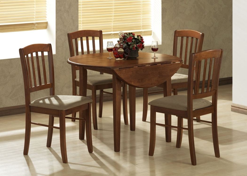 Fashionable By Designs Buller 4 Seater Dropside Dining Table & Chair Set With Regard To Dining Sets (View 17 of 25)