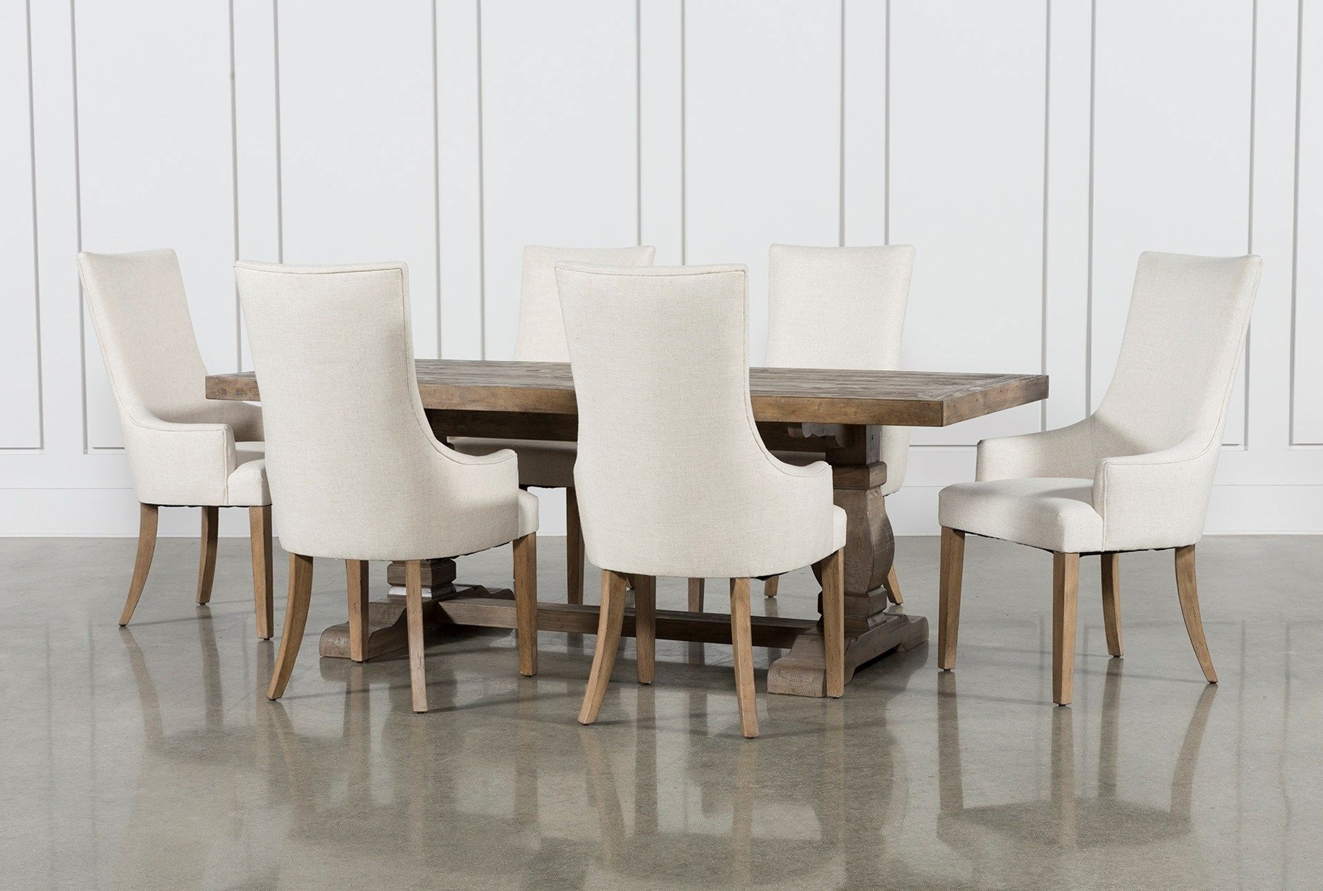 Fashionable Caden 5 Piece Round Dining Sets In Caden 7 Piece Dining Set With Zane Arm Chairs (View 8 of 25)