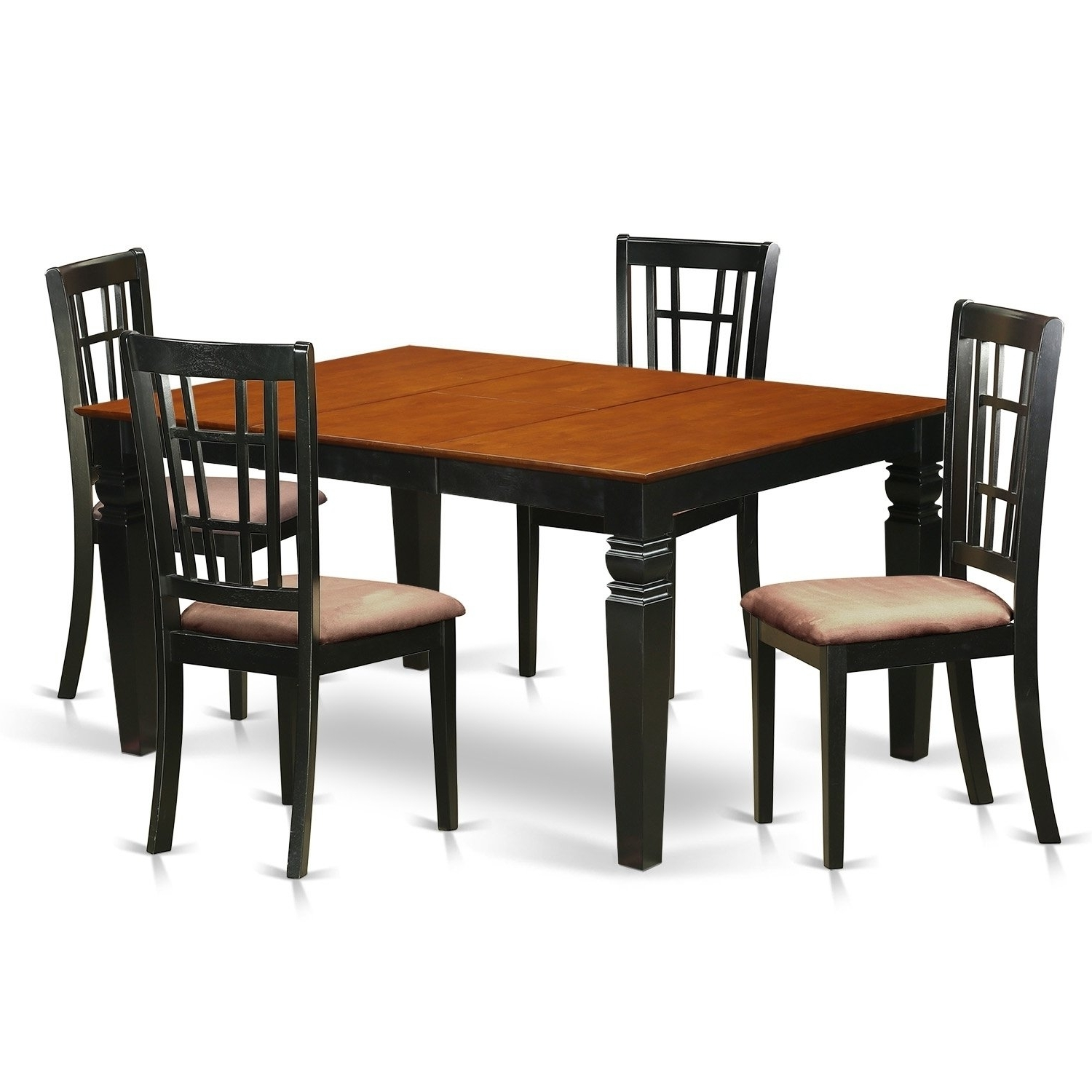Fashionable Caden 5 Piece Round Dining Sets With Upholstered Side Chairs Throughout Weni5 Bch 5 Pc Dinette Set With A Dining Table And 4 Kitchen Chairs (View 11 of 25)