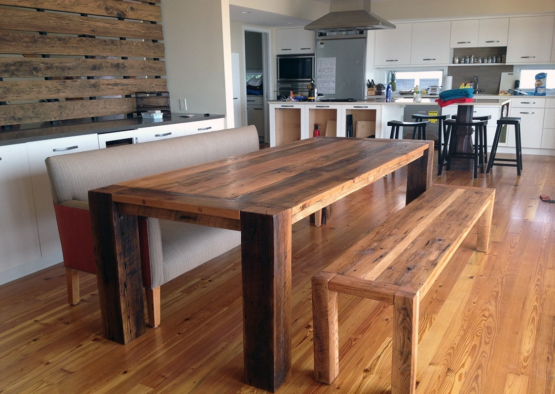 Fashionable Cheap Reclaimed Wood Dining Tables Inside Thick Wood Dining Table Lovely Thick Wood Kitchen Table  (View 12 of 25)