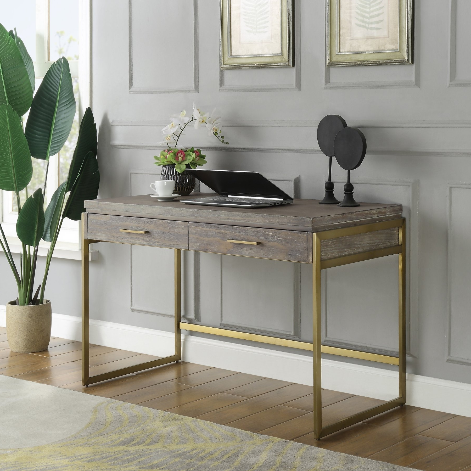 Fashionable Coast To Coast Biscayne Writing Desk In  (View 11 of 25)