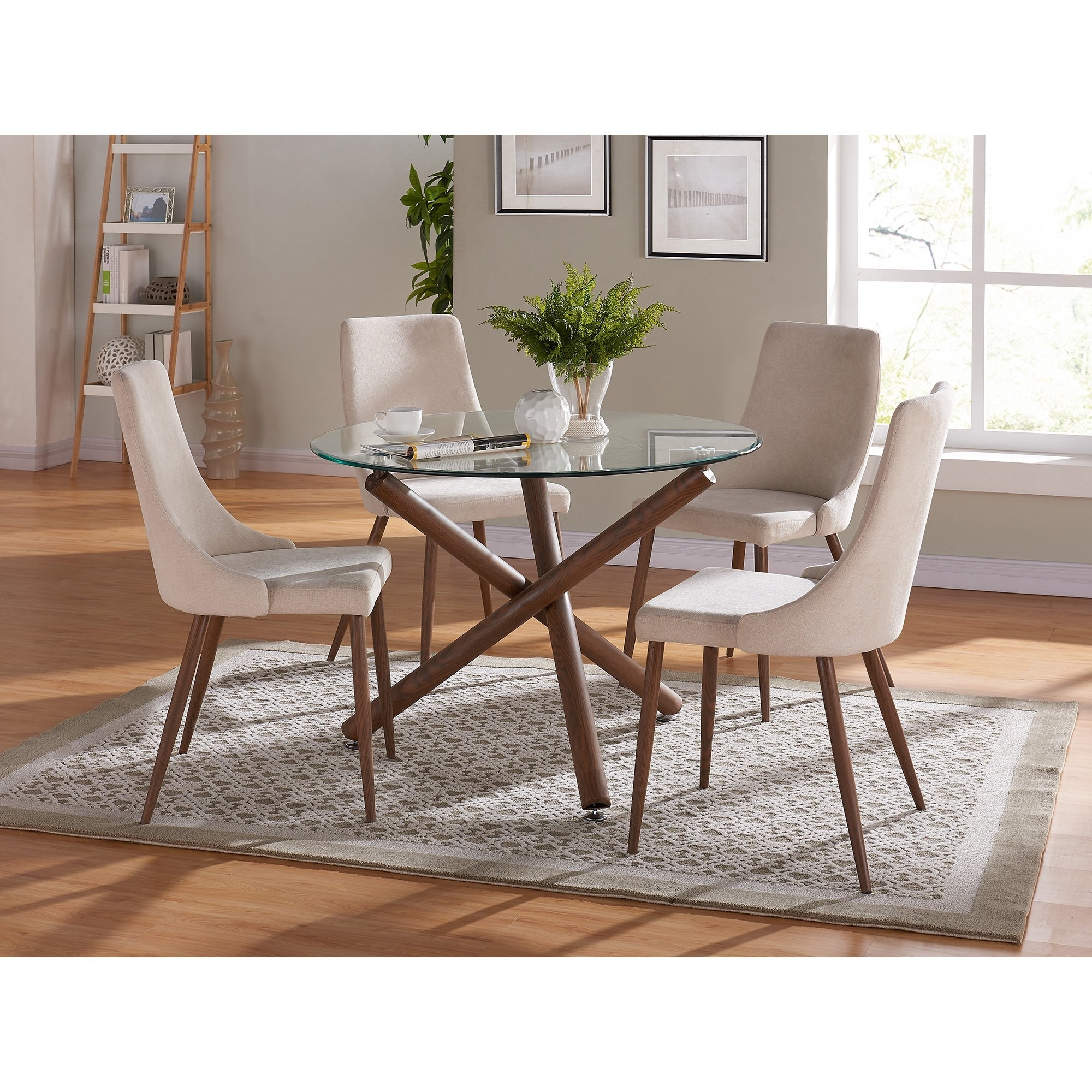 Fashionable Cora 5 Piece Dining Sets Inside Shop Carson Carrington Kaskinen Dining Chair (Set Of 2) – Free (View 16 of 25)