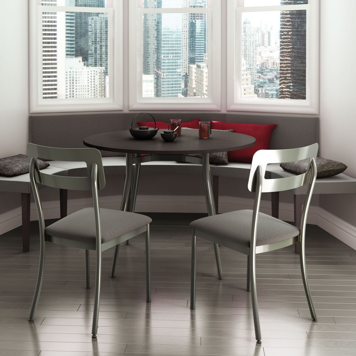Fashionable Cora Dining Chair, Amisco Canada – Italmoda Furniture Store Within Cora Dining Tables (View 11 of 25)
