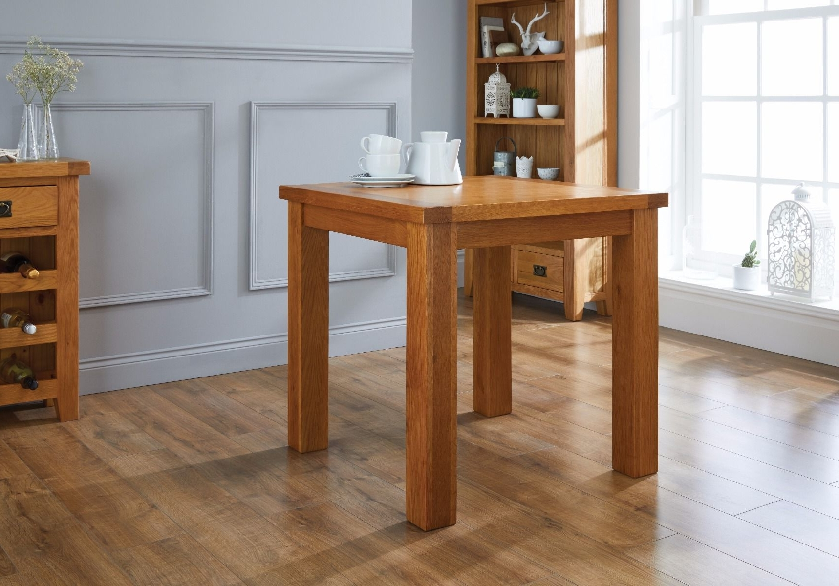 Fashionable Country Oak 80Cm Small Square Oak Dining Room Table With Regard To Square Oak Dining Tables (View 4 of 25)