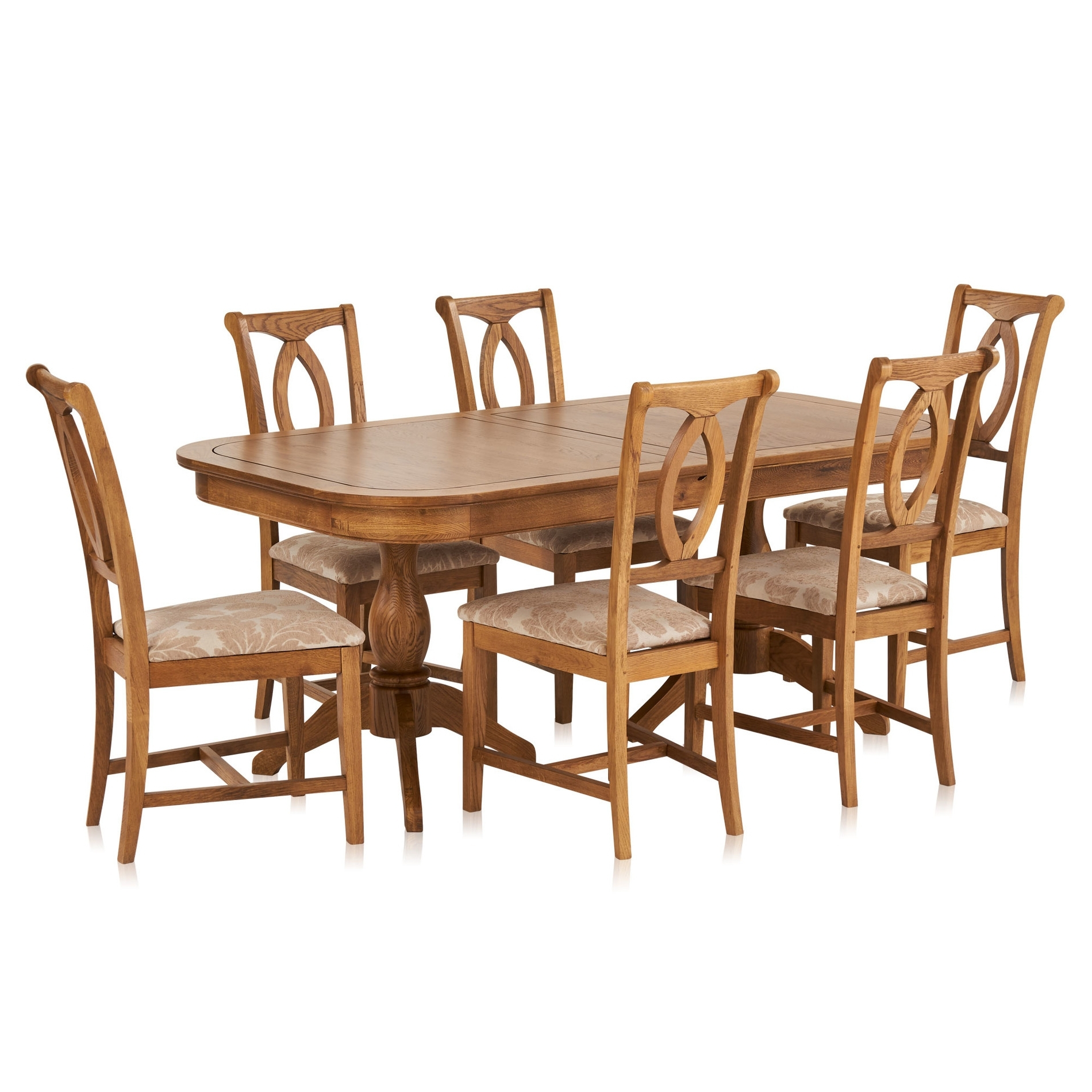 Fashionable Crawford Rectangle Dining Tables Intended For Crawford Extendable Dining Table And 6 Beige Chairs (View 10 of 25)