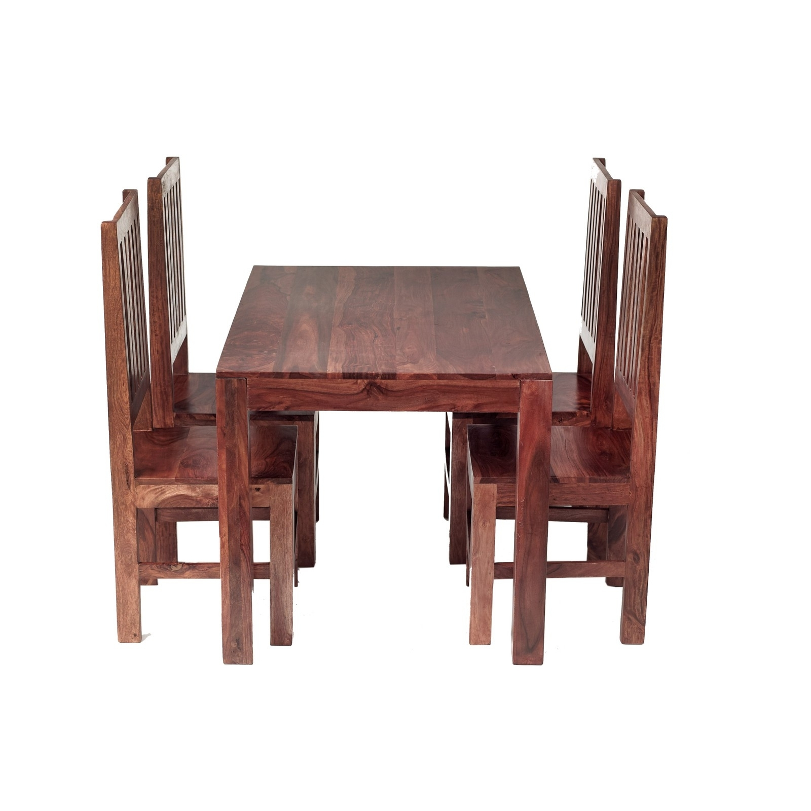 Fashionable Cube Sheesham 4 Ft Dining Set With Wooden Chairs – Verty Indian With Regard To Indian Dining Chairs (View 7 of 25)
