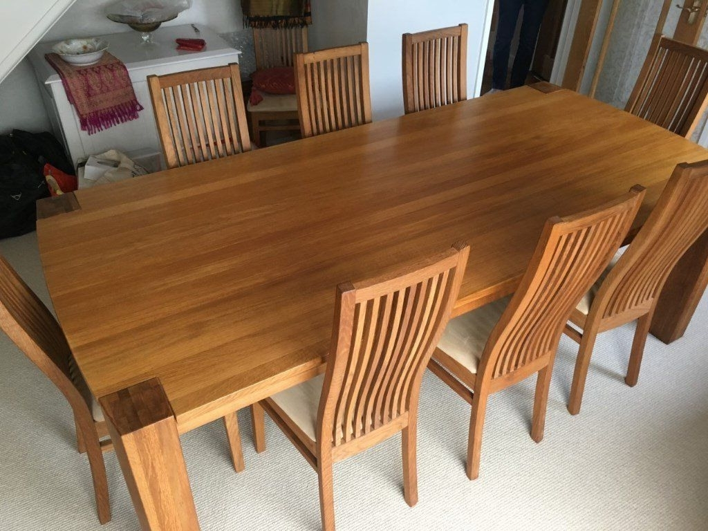 Fashionable Dining Table And 8 Chairs Fantastic Perfect Condition Solid Oak Within Oak Dining Tables And 8 Chairs (View 5 of 25)