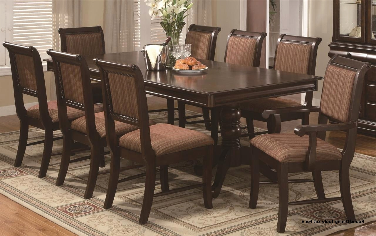 Fashionable Dining Tables Set For 8 Inside Pub Style Dining Room Table Awesome Round Dining Table Set For (View 15 of 25)