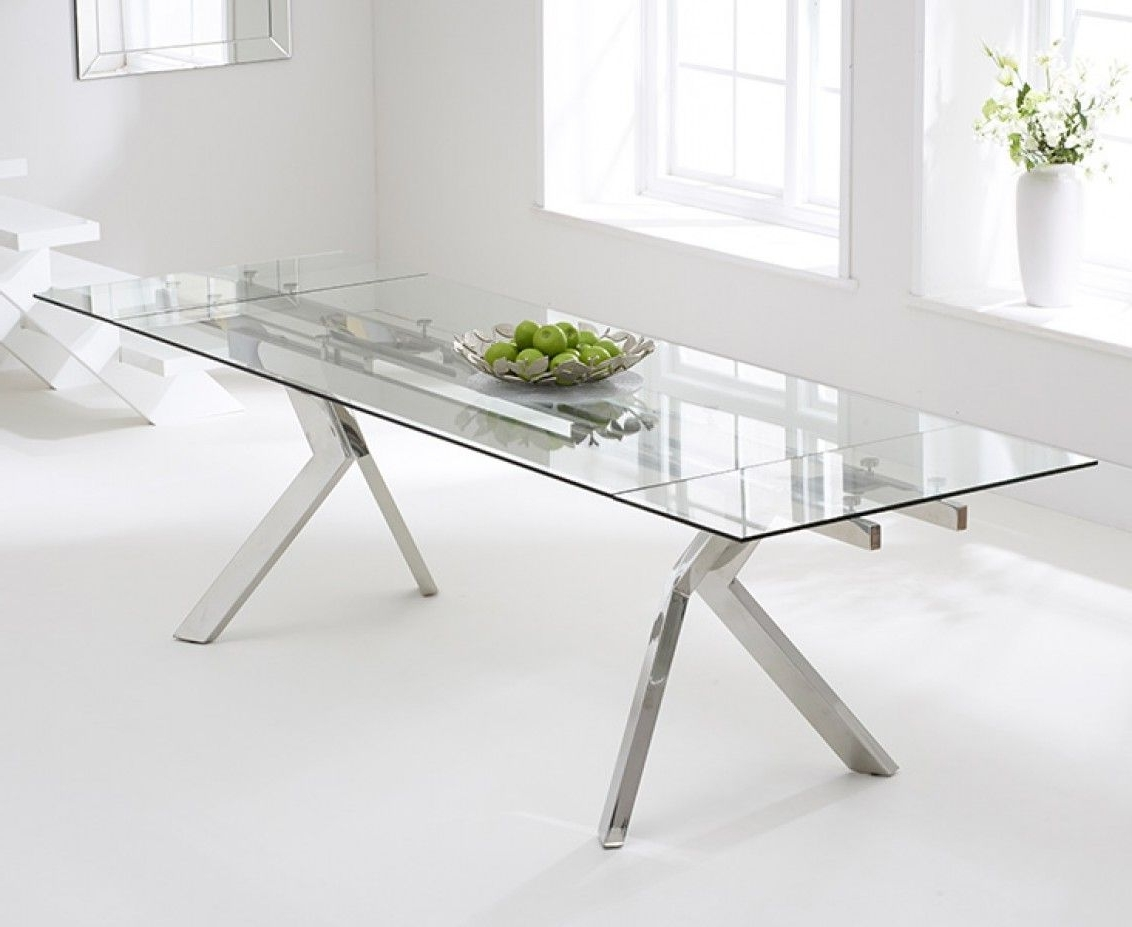 Fashionable Extending Glass Dining Tables Regarding Puccini 200Cm Extending Glass Dining Table (View 13 of 25)