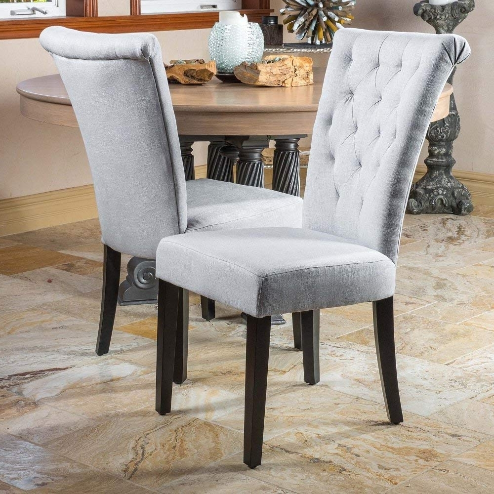 Fashionable Fabric Dining Room Chairs Pertaining To Amazon – Modern Home Venetian Dining Room Chairs (Set Of  (View 15 of 25)