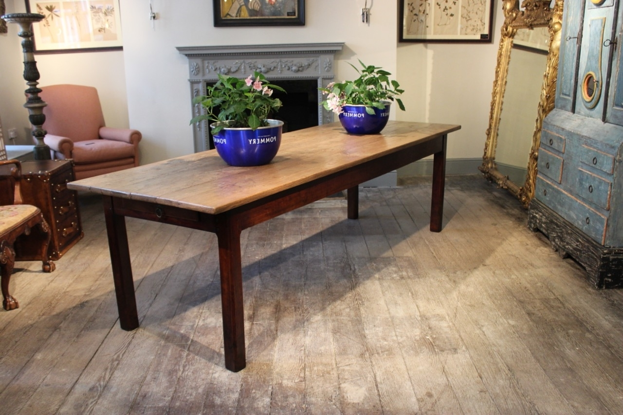 Fashionable French Farmhouse Dining Tables In Large 19Th Century French Farmhouse Dining Table – Furniture (View 8 of 25)