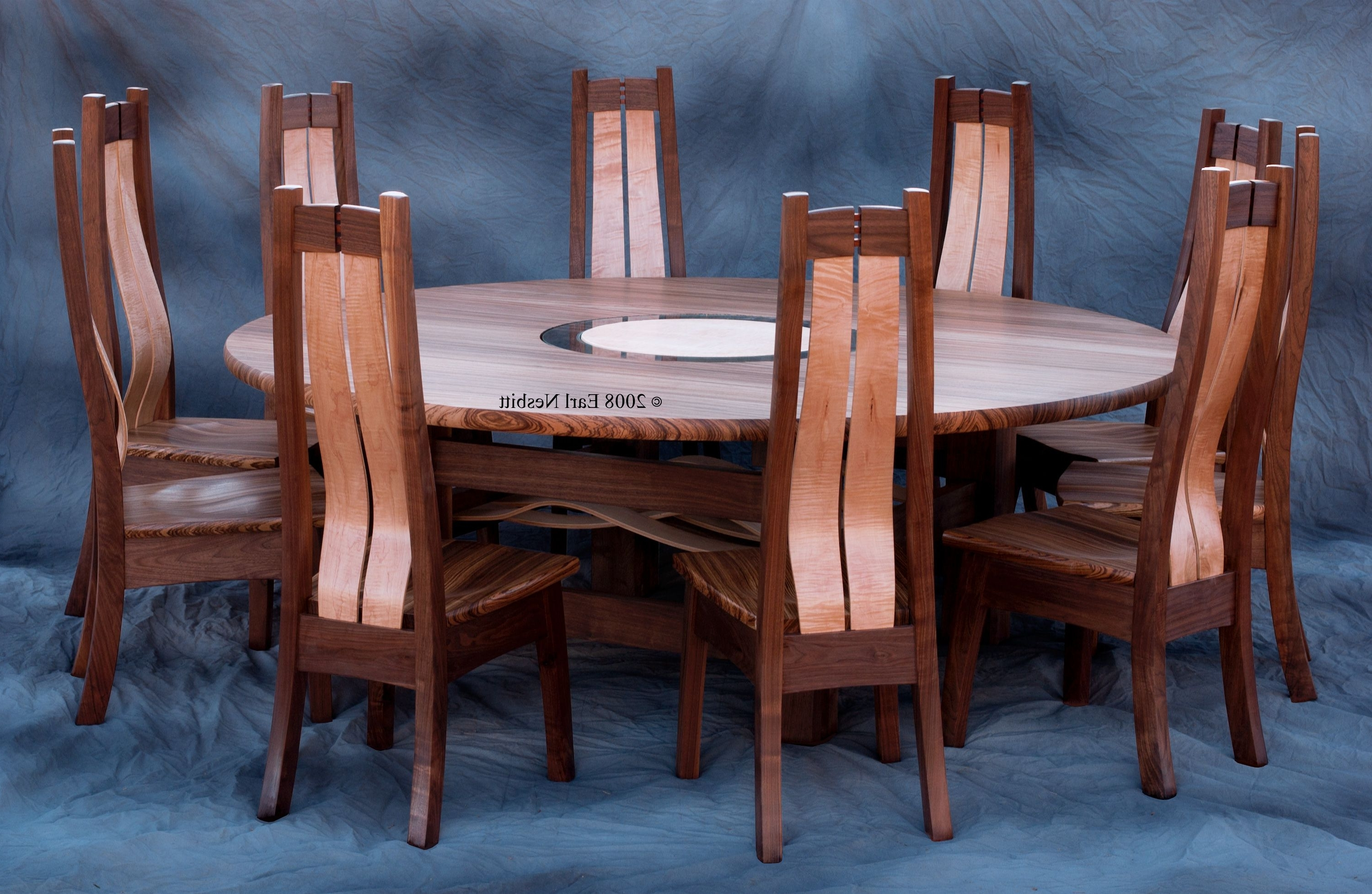 Fashionable Handmade Round Dining Table Or Conference Table With 10 Chairs In Dining Table And 10 Chairs (View 17 of 25)