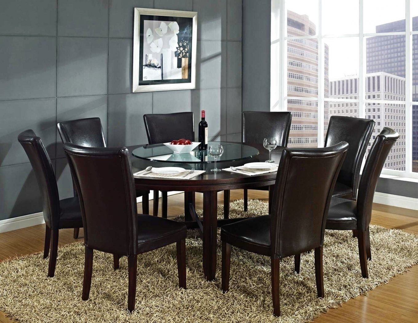 Fashionable Interesting Ideas 6 Person Round Dining Table Pretty Design Person Pertaining To 6 Person Round Dining Tables (View 9 of 25)