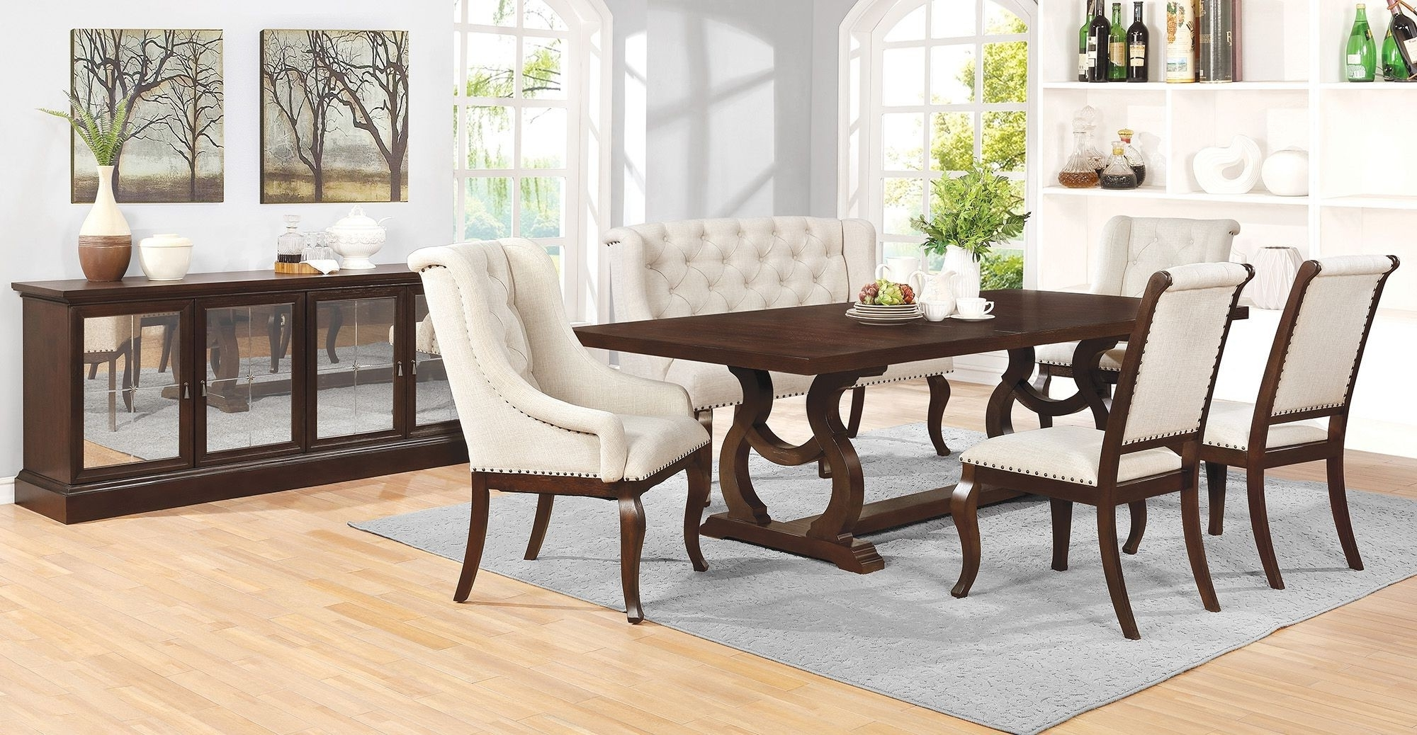 Fashionable Java Dining Tables Intended For Glen Cove Antique Java Dining Tablescott Living For $ (View 5 of 25)