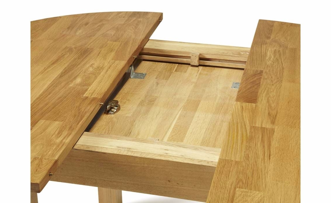 Fashionable Kensington Solid Oak Round Extending Dining Table, Solid Oak With Extending Solid Oak Dining Tables (View 10 of 25)