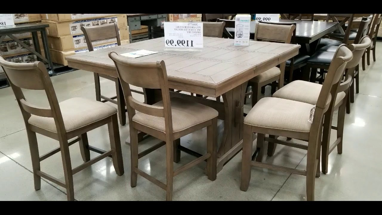 Fashionable Kirsten 5 Piece Dining Sets Regarding Costco! Counter Height Dining Tables With 8 Chairs! $999 – $ (View 4 of 25)