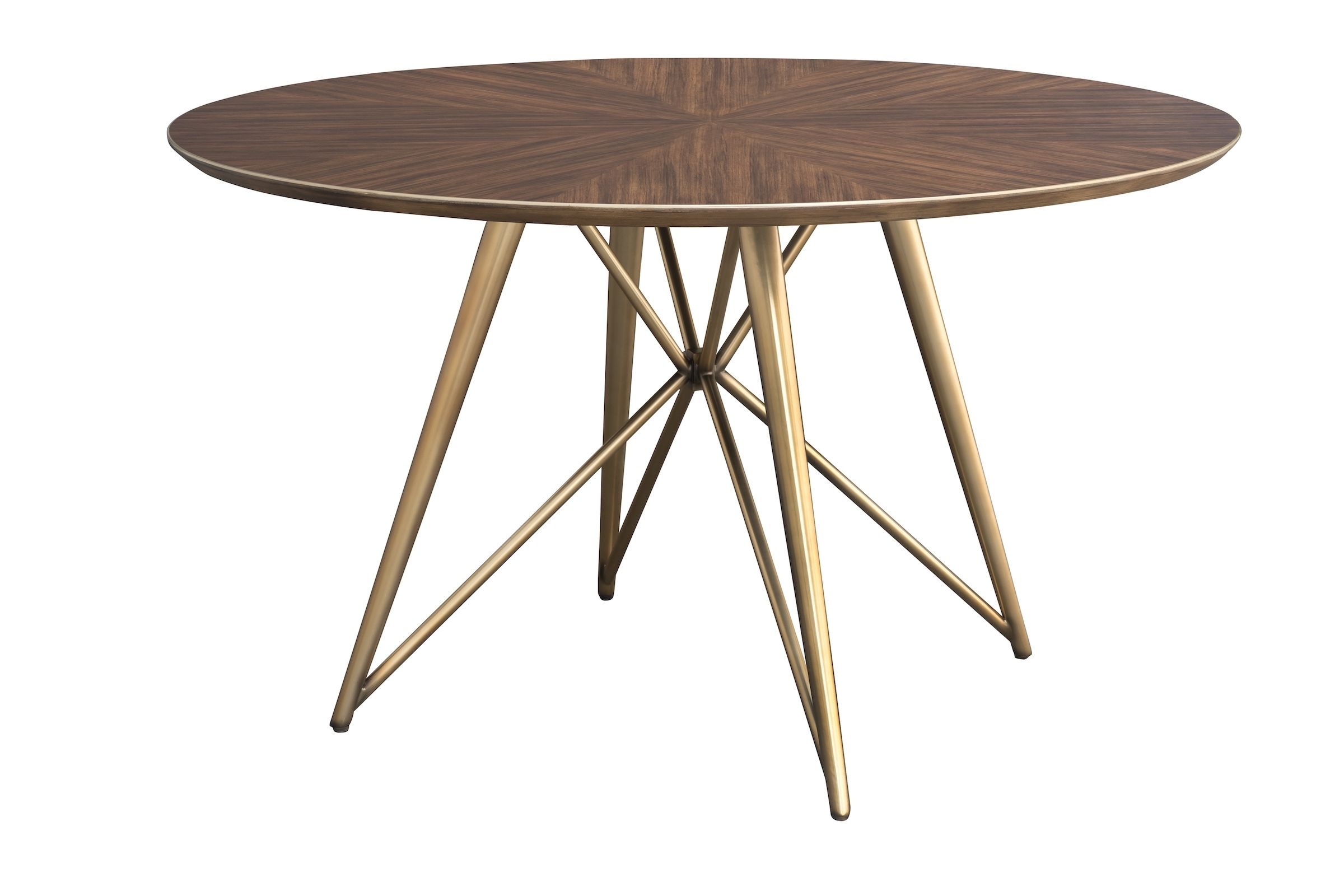 Fashionable Konrad 60 Inch Round Wood And Brass Round Dining Table In Portland 78 Inch Dining Tables (View 6 of 25)