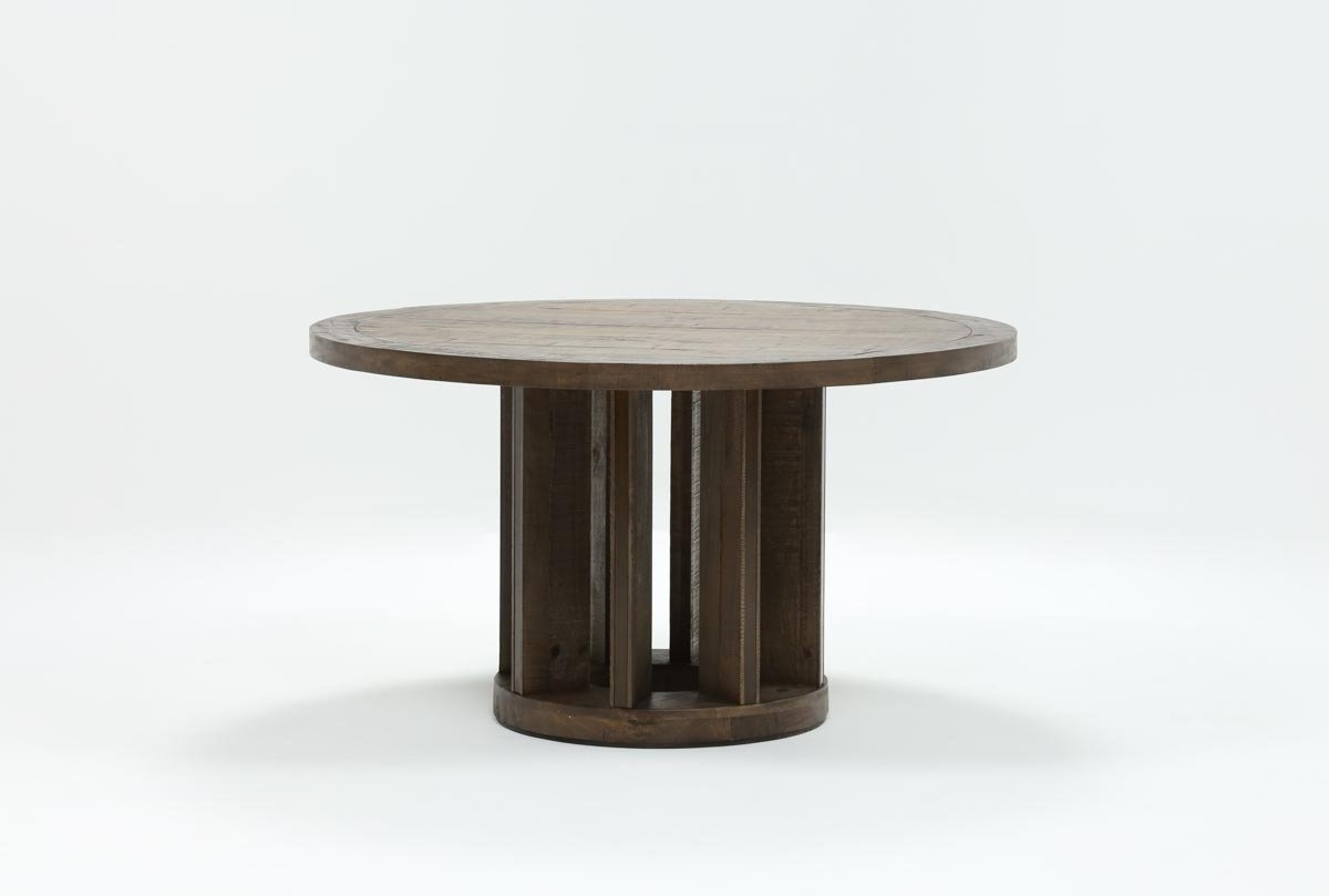 Fashionable Lassen Extension Rectangle Dining Tables Regarding Lassen Round Dining Table (View 9 of 25)