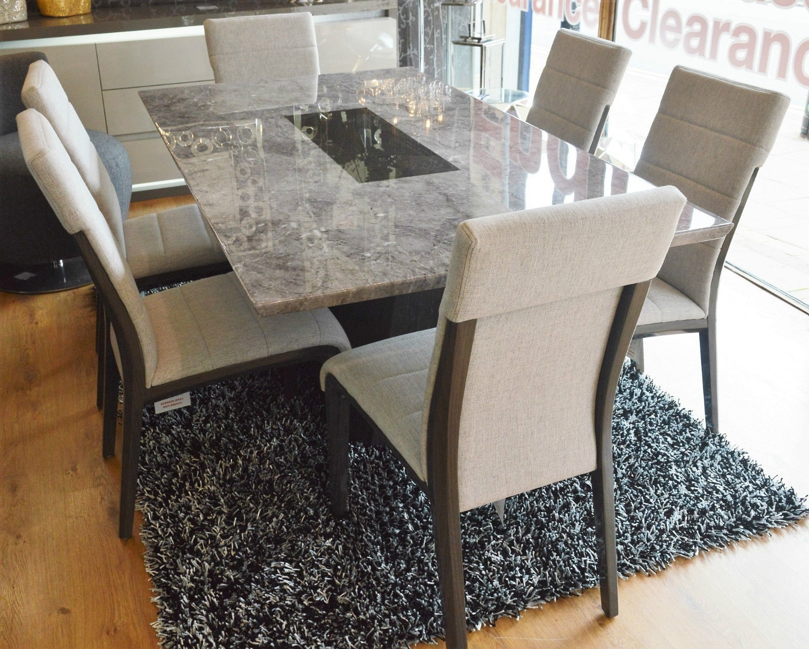 Fashionable Lyon Dining Tables Pertaining To Lyon Dining Table Plus 6 Chairs – Plush Furnishers Ltd (View 5 of 25)