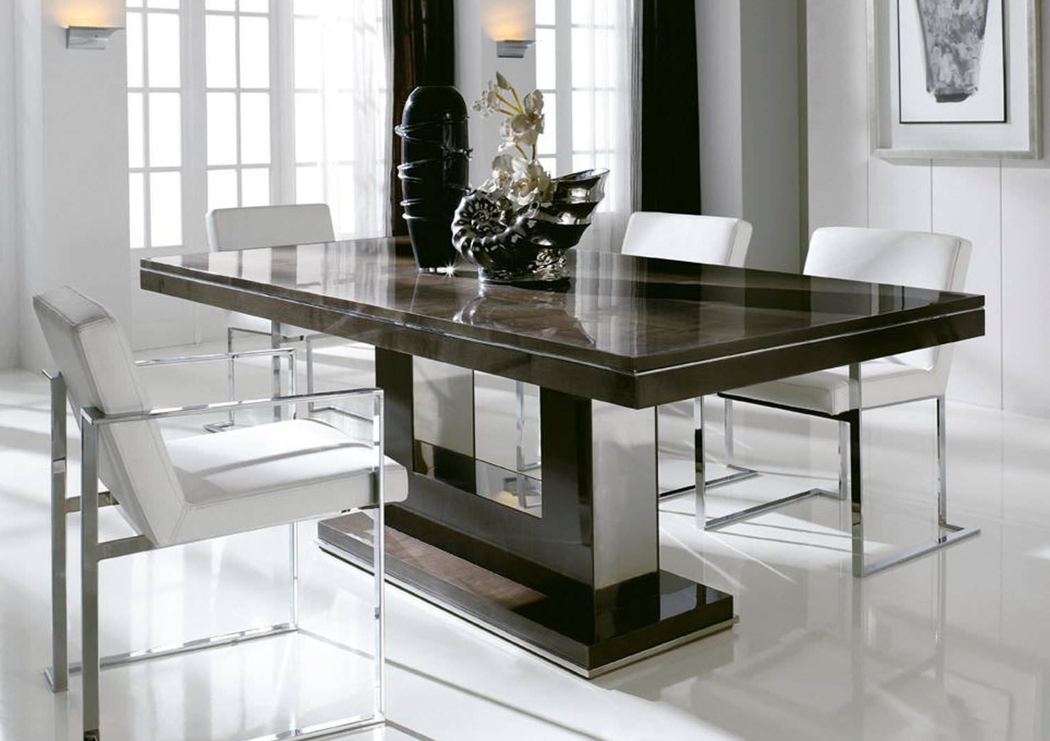 Fashionable Marble Top Dining Table Set Popular In Small Home Decoration Ideas Regarding Modern Dining Sets (View 12 of 25)
