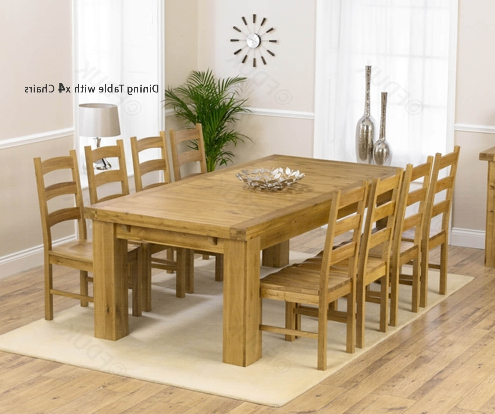 Fashionable Mark Harris Laurent Solid Oak Dining Set – 230Cm Rectangular For Laurent Rectangle Dining Tables (View 6 of 25)