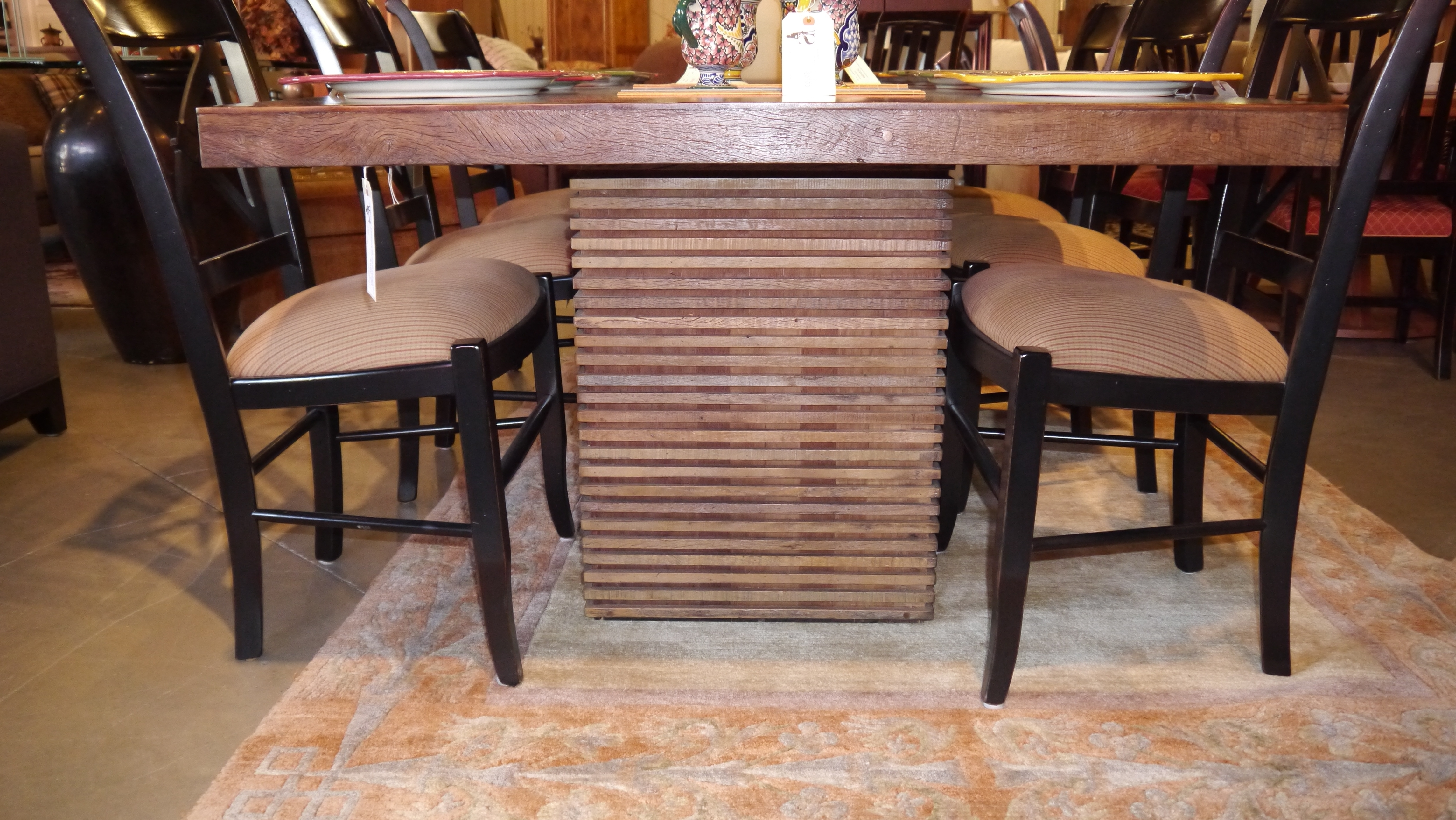 Fashionable Modern Dining Room Colors Black Wood Asian Dining Table Set Inspired Pertaining To Asian Dining Tables (View 19 of 25)